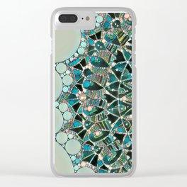 Bloom Mandala in Ocean Clear iPhone Case