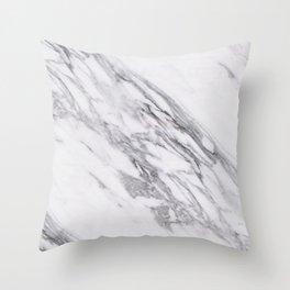Alabaster marble Throw Pillow