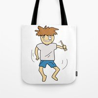 drunk Tote Bags featuring Drunk by justang8