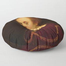 Rembrandt - Young Woman with a Gold Chain Floor Pillow