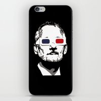 bill murray iPhone & iPod Skins featuring Bill Murray 3D by Spyck