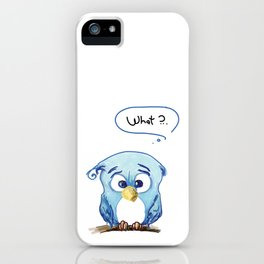 Funny owl iPhone Case