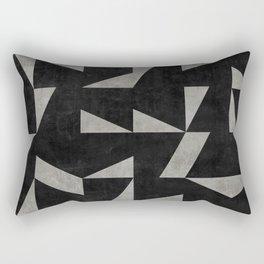 Mid-Century Modern Pattern No.12 - Black and Gray Concrete Rectangular Pillow