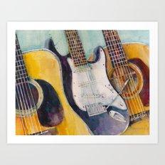 three guitars Art Print