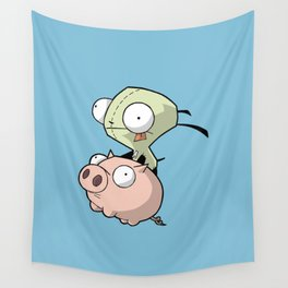 Gir and Piggy Wall Tapestry