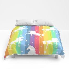 Rainbow Unicorns Comforters
