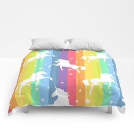 Rainbow Unicorns Comforters