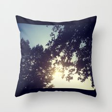 peak-a-boo sun Throw Pillow