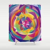 acid Shower Curtains featuring Acid Blossom by Eleaxart