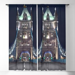 Historically Charged Romantic Tower Bridge At Night London City England United Kingdom Ultra HD Blackout Curtain