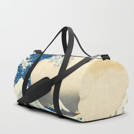 Japanese Woodblock Print The Great Wave of Kanagawa by Katsushika Hokusai Duffle Bag