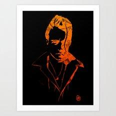 Lovelocked Black Art Print