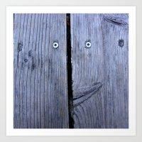 Fence Smiley, 1 Art Print
