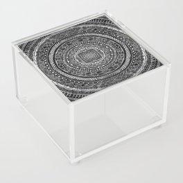 Zentangle Mandala Black and White Acrylic Box