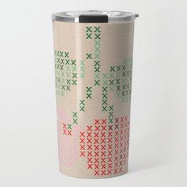 Cherry cross stitch Travel Mug