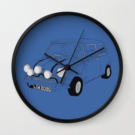 The Italian Job Blue Mini Cooper Wall Clock