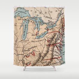 Great Lakes of North America Shower Curtain