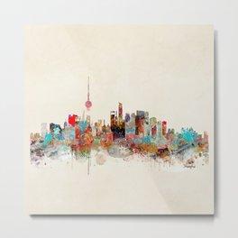 shanghai city skyline Metal Print