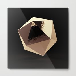 Bling - Black and Gold Metal Print