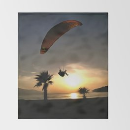 Dropzone At Dusk Throw Blanket
