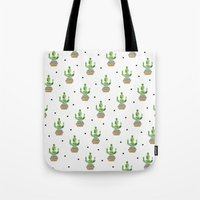 cactus Tote Bags featuring Cactus by Elisabeth Fredriksson