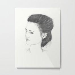 Angry girl Metal Print