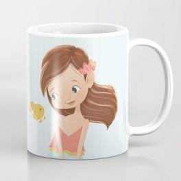 mermaid with goldfish Coffee Mug