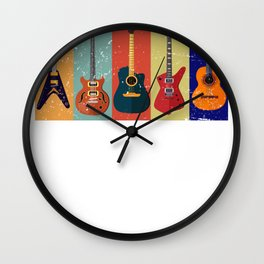 Bass Guitar Colorful Wall Clock