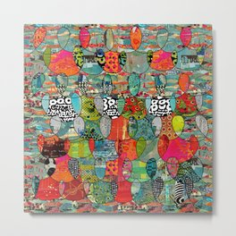 Color Riot Abstract Art Collage Metal Print