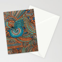 Drawing Meditation - Orange Stationery Cards
