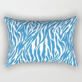 Zebra Blue Rectangular Pillow