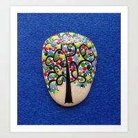 Dotart Tree  Art Print