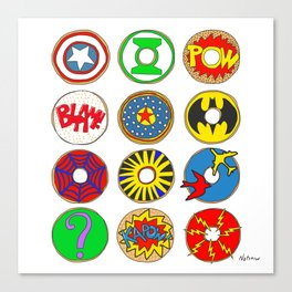 Superhero Donuts Canvas Print