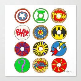 Superhero Donuts Canvas Print