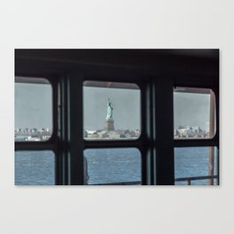 Statue of Liberty from the ferry Canvas Print