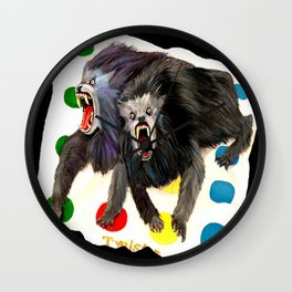 Werewolves with a Twist Wall Clock
