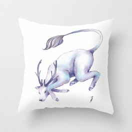 Eternal Deer Throw Pillow