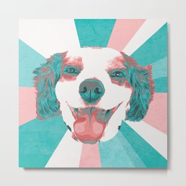 Marley's Lil Smiling Face Metal Print