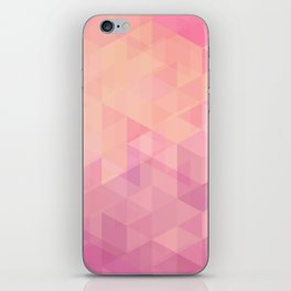 Geometric Pink  iPhone Skin