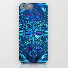 Deep Ocean Art Nouveau Watercolor Doodle iPhone 6 Slim Case
