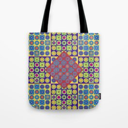 Brite Combo (Acrylic Painting on Paper No. 4) Tote Bag