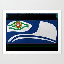 Portugues Hawks Fans Art Print