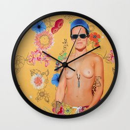 Penny Board Wall Clock