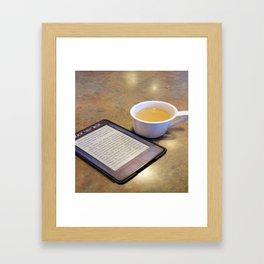 My Coffee and My Kindle Framed Art Print