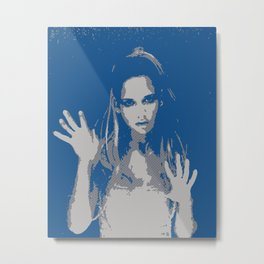 Sarah Michelle Gellar - Rain Metal Print