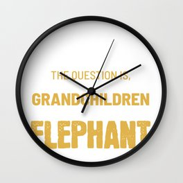 Save Wildlife Elephant Animal Protector And Activist Gift Wall Clock