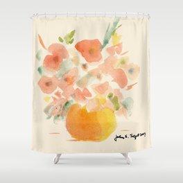 Gorgeous Poppies by artist John E. Shower Curtain