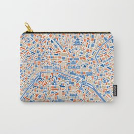 Paris City Map Poster Carry-All Pouch