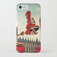 england iPhone & iPod Cases featuring ENGLAND by mark ashkenazi
