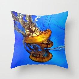 Jellyfishing Throw Pillow